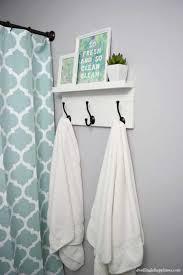 diy towel rack with shelf