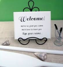guest sign in books welcome sign your name wedding guest book sign by seaweeddesigns