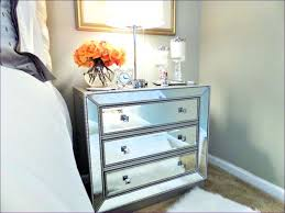 glass night stands large size of mirrored nightstand glaze