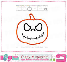 pumpkin applique halloween applique jack o u0027 lantern halloween