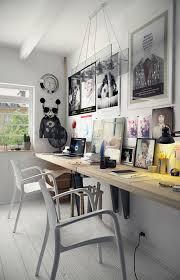 bureau collectif 42 idées déco de bureau pour votre loft tréteaux fans de et