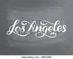 greetings from los angeles postcard 1936 stock photo 60231710