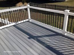 composite deck using trexcompany transcend tiki torch flooring