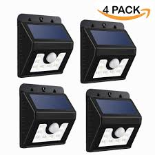 Outdoor Solar Lights On Sale by Mpowtech Solar Lights 4 Pack Led Motion Sensor Wall Light Bright