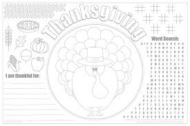 printable thanksgiving placemats for free live craft eat