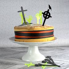 halloween cake toppers graveyard cake topper zombie cake