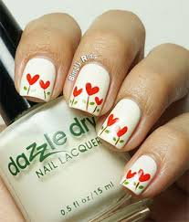 simple heart tip nail art designs u0026 ideas for valentine u0027s day 2014