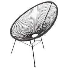 fauteuil de la maison fauteuil de jardin rond noir salons and room