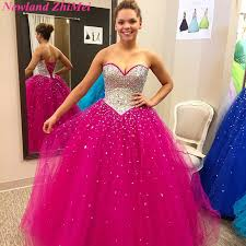 vestidos de quinceanera amazing fuchsia sweetheart quinceanera dresses with sparking