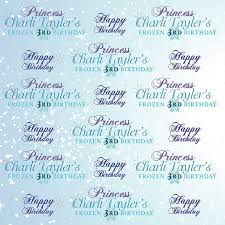personalized photo backdrop frozen winter personalized birthday backdrop 8x8