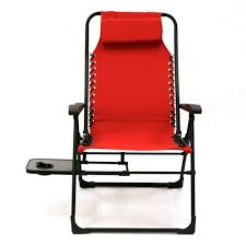 Zero Gravity Chair Table Companion Sunbrella Anti Gravity Chair With Side Table In Red