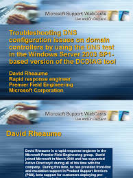troubleshooting dns using dcdiag domain name system active