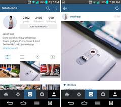 new update for android instagram for android gets new design faster in new update
