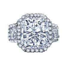 radiant cut halo engagement rings 3 50 carat radiant cut halo engagement ring