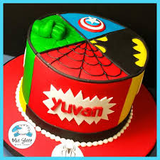 superhero birthday cake blue sheep bake shop