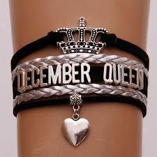 infinity braid bracelet images Infinity love december queen bracelets black silver braided 12 jpg