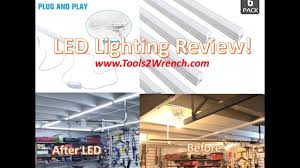 led vs fluorescent shop lights led shop light vs fluorescent brighten up that garage and save