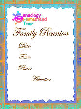 five family reunion themes with planning software and worksheets