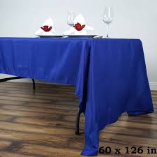60 x 126 polyester rectangular tablecloth wedding catering table