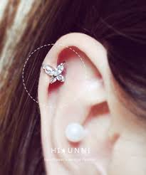 cartilage earing 16g butterfly cartilage earring cz stud earrings ear stud helix