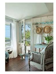 Bright And Beachy Great Room Coastal  Nautical Decor - Shabby chic beach house interior design