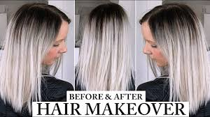 should wash hair before bayalage dark roots balayage platinum silver grey hair before and after