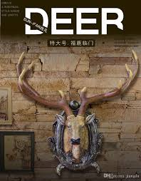 Deer Head by Simulation Of Large Deer Head Hanging Bar Wall Wall Act The Role
