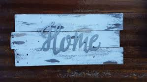 home metal word sign farmhouse decor rustic home decor