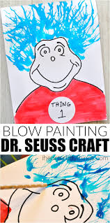 thing 1 and 2 blow painting dr seuss craft dr seuss crafts cat