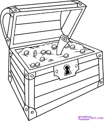 treasure chest pictures to print and color images of how to draw a