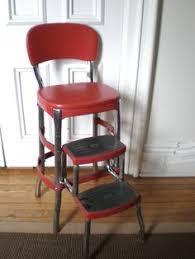 Retro Red Kitchen Chairs - vtg 1950s pastel turquoise cosco kitchen step stool chrome retro
