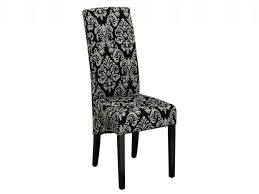 damask dining chair glamour pair of black grey upholstered dining