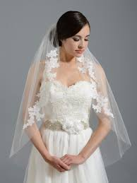 bridal veil ivory wedding veil v052 alencon lace