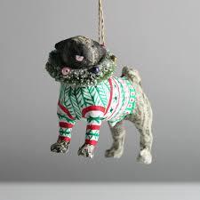 cody foster paper mache dog christmas decorations u2013 maison le lou
