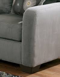 Ashley Chaise Sectional Zella Stationary Chaise Sectional In Gray By Ashley Home Gallery