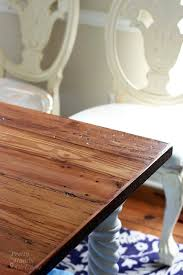 rustic wood farmhouse table top from reclaimed lumber