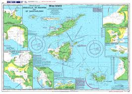 Topographic Map Of Usa by Large Detailed Topographical And Nautical Map Of Anguilla St