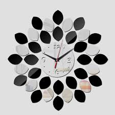 wall watch 2017 time limited big black silver acrylic wall clock modern design