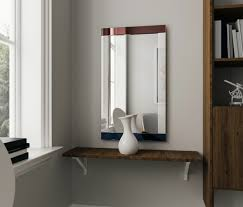 frameless beveled rectangular wall mirror frameless bathroom