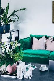 Wohnzimmer Einrichten Sofa Unsere Neue Wohnzimmer Einrichtung In Grün Grau Und Rosa