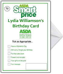 supermarket spoof birthday card asda smart price u2013 that card shop