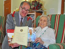 centenarian agnes is 100 years young at castle view