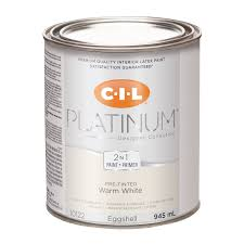 cil platinum interior paint pre tinted warm white 945 ml