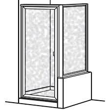 Framed Shower Door Replacement Parts Prestige Framed Hinged Shower Door With Return Panel American