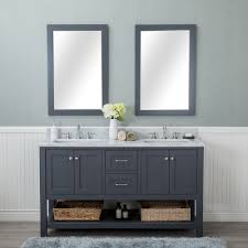 Double Bathroom Vanity 60 Alya Bath Wilmington 60 In Double Bathroom Vanity In Gray With
