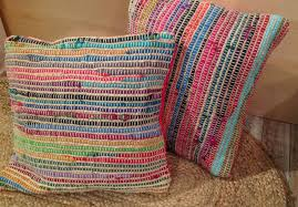 Cusion Cover Recycled Cotton U0026 Jute Cushion Covers 5 Colours