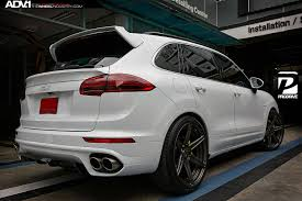 Porsche Cayenne Wheels - white porsche cayenne adv6 m v2 sl wheels polished smoked