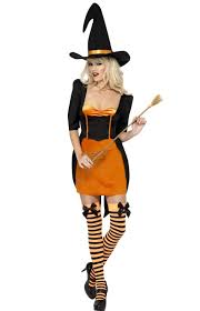 Witch Halloween Costumes Halloween Witch Costume Women U0027s Orange Pumpkin Witch Costume
