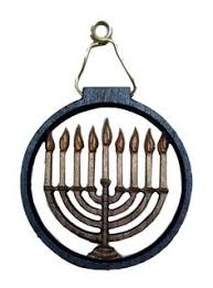 chanukah menorah copper ornament ornament judaica