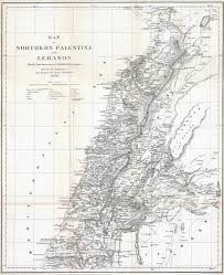 Old Boston Map by Large Detailed Old Map Of Northern Palestine And Lebanon 1856